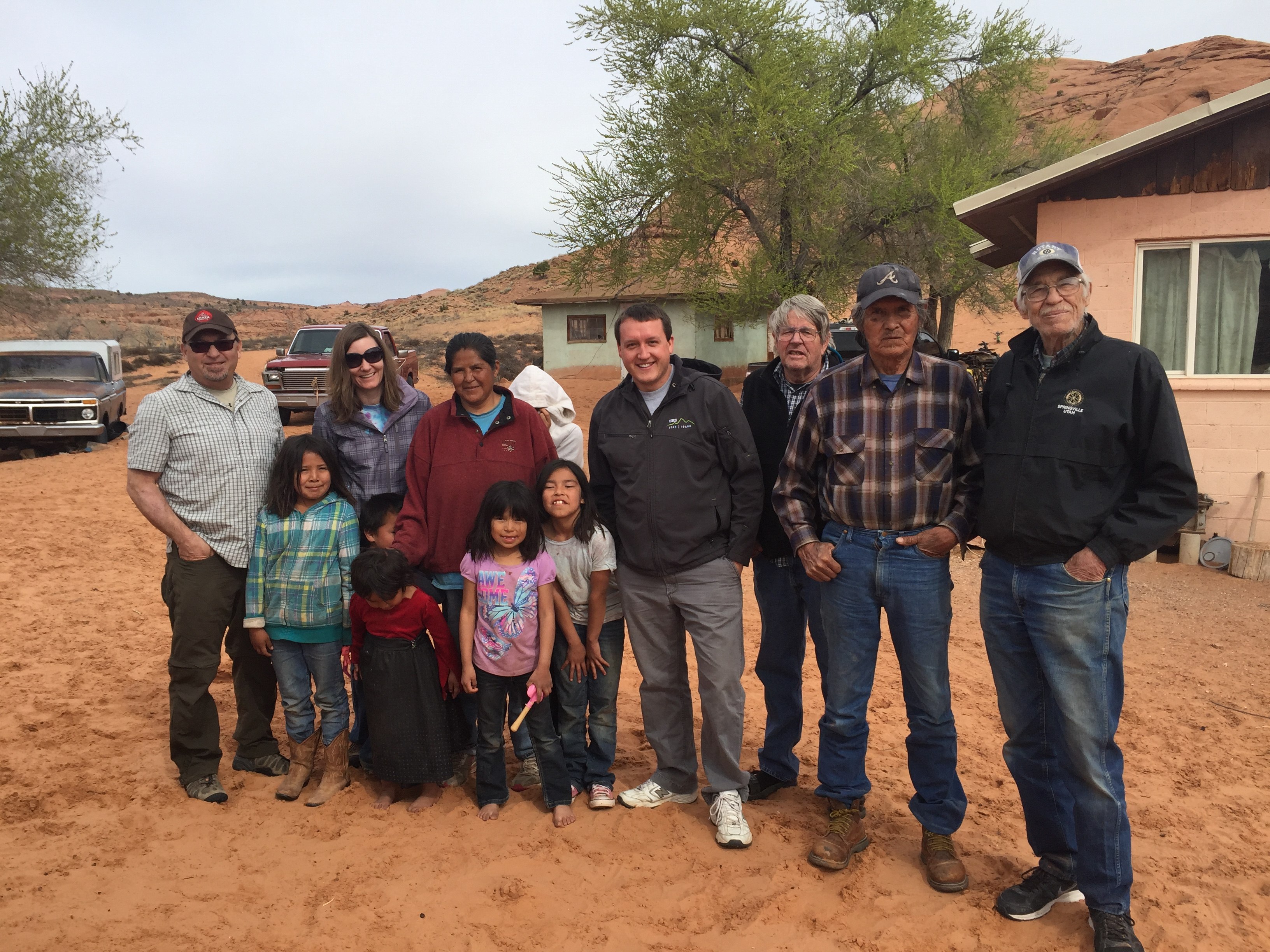 Community elder John Lowe and family